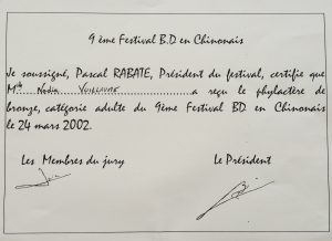 phylactere 2002 festival de la BD chinonais