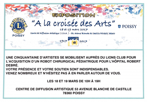 """Nadia Vuillaume participate in the Lions Club exhibition """"A La Croisée des arts""""."""