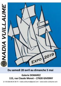 Affiche exposition contemporaine 2019 Giverny